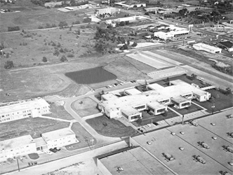 Aerial view of Lombard campus