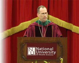Photo of President Stiefel speaking