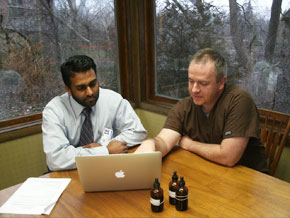Dr. Saeed and Dr. Rardin with laptop