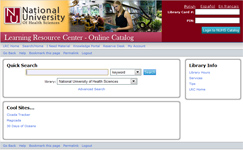 Thumbnail of LRC Catalog website
