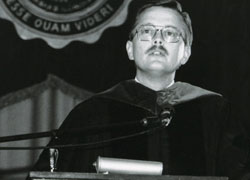 Photo of President Winterstein in 1986