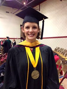 Photo of Kimberly Leopold at graduation