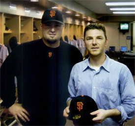 DC Graduate Alden Clendenin with SF Giants Player Jason Schmidt