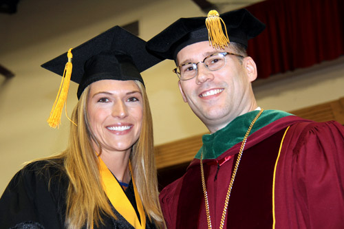 Photo of Sunni Olding-Lomnicki and President Stiefel