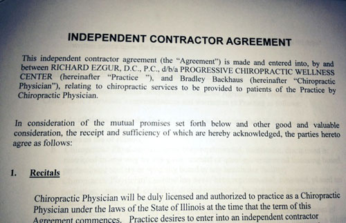 Photo of contract