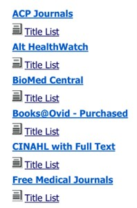 LRC - Screenshot of Titles List in A-to-Z