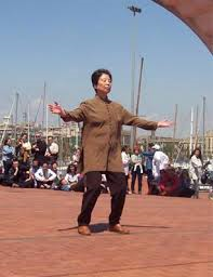 photo of qi gong practitioner