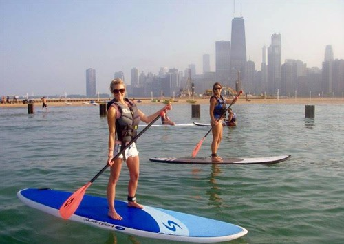 Paddleboarding In Chicago