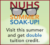 Visit NUHS May through August for double tuition credit