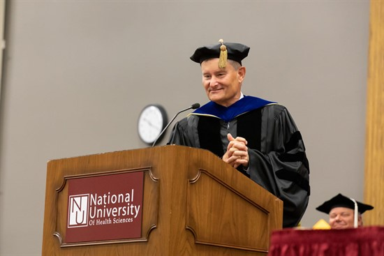 Dr. Robert Shiel speaks at NUHS graduation 2018