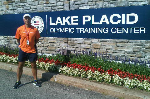 A. Carlo Guadagno at the entrance to the Olympic Training Center