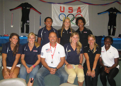 Dr.Guadagno with Team USA Bobsledders