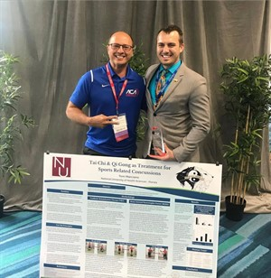 Dr. Carlo Guadagno poses with NUHS-Florida chiropractic student Tom Marciano