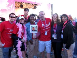 NUHS interns at Komen walk for the cure