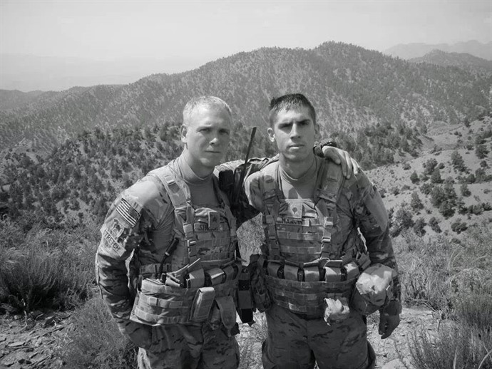 Sargent Sean Stretch, Airborne/Fister, (left) and Specialist Ethan J. Martin, Airborne Army (right).