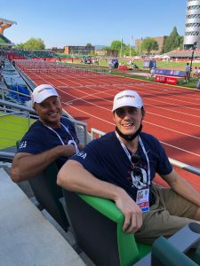 Dr. Guadagno and Michael Stern at Olympic trials